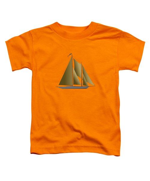 Yacht In Sunlight Toddler T-Shirt