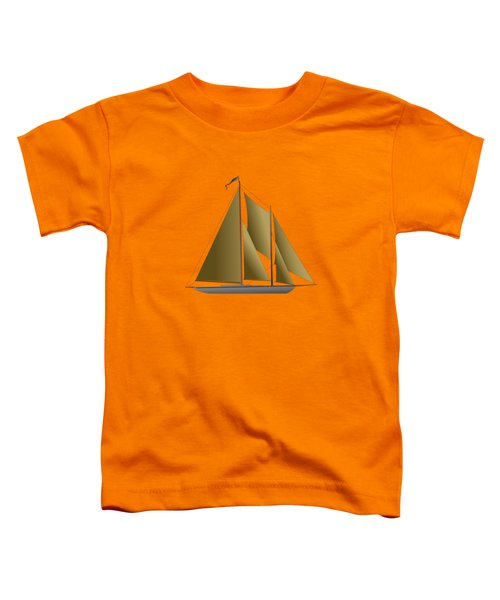 Yacht In Sunlight Toddler T-Shirt