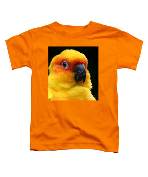 Yellow Parrot Closeup Toddler T-Shirt