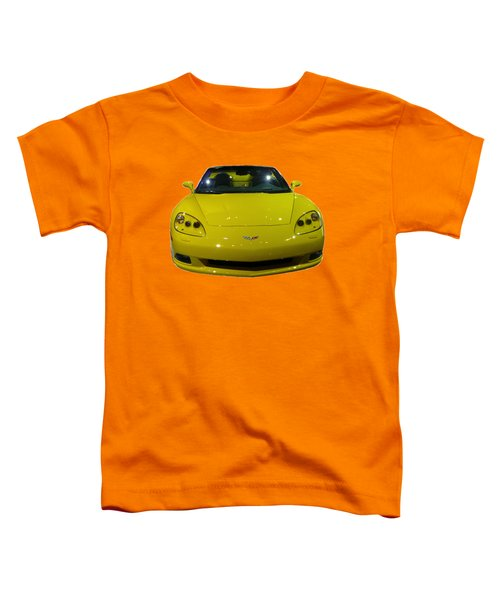 Yellow Sports Car Front Toddler T-Shirt