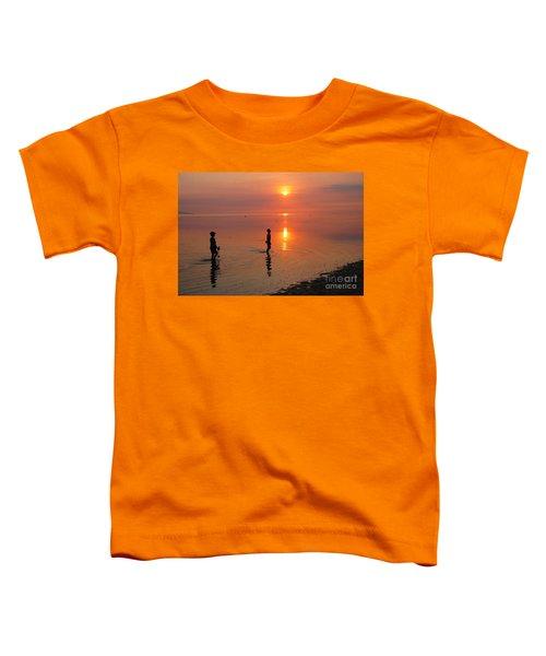 Young Fishermen At Sunset Toddler T-Shirt