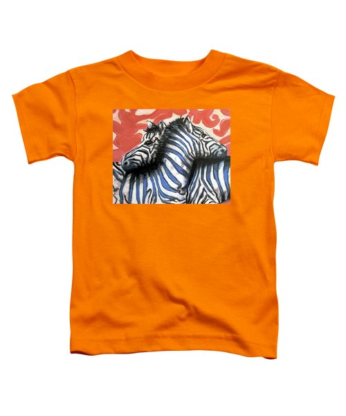 Zebra In Love Toddler T-Shirt