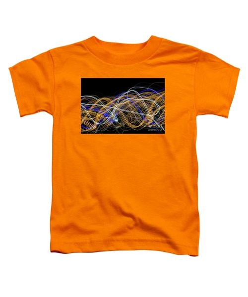 Colorful Light Painting With Circular Shapes And Abstract Black Background. Toddler T-Shirt