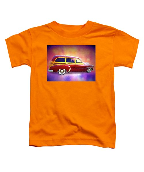 1951 Chevy Woody Sideview Toddler T-Shirt