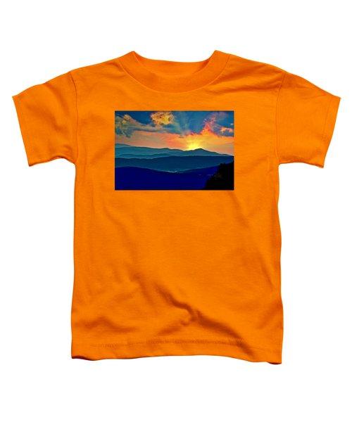 Blue Ridge Mountains Sunset Toddler T-Shirt