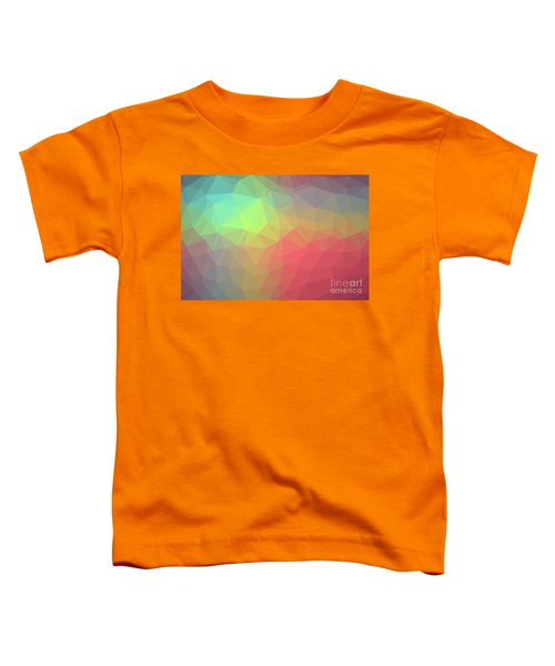 Gradient Background With Mosaic Shape Of Triangular And Square C Toddler T-Shirt