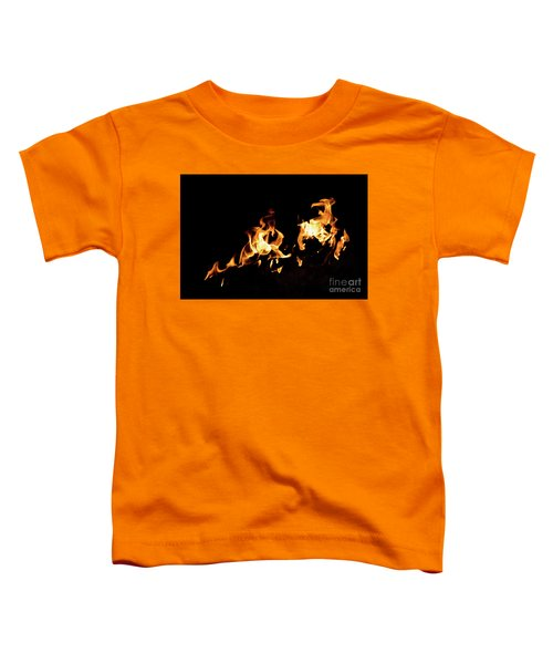 Flames In The Fire Of A Red And Yellow Barbecue. Toddler T-Shirt