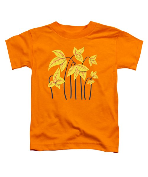Abstract Flowers Geometric Art In Vibrant Coral And Yellow  Toddler T-Shirt