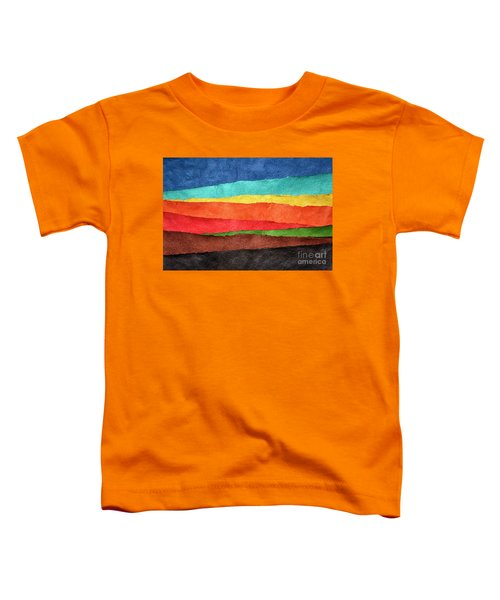 Abstract Landscape Created With Handmade Paper Toddler T-Shirt