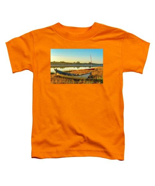 Boats In The Marsh Grass, Ogunquit River Toddler T-Shirt