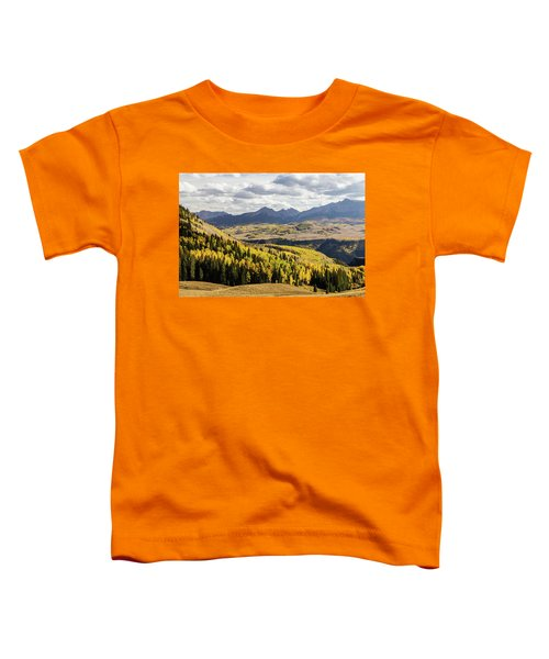Toddler T-Shirt featuring the photograph Autumn Season View Of Sneffles Ten Peak by James BO Insogna