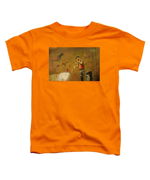 Banksy's Cave Painting Cleaner Toddler T-Shirt