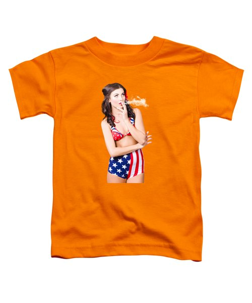 Beautiful American Military Pin Up Girl Toddler T-Shirt