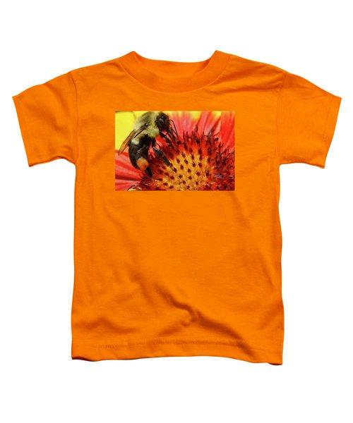 Bee Red Flower Toddler T-Shirt