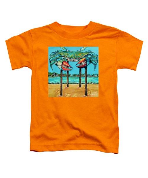 Big Blue Crab Rockport Toddler T-Shirt