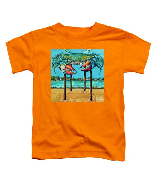 Big Blue Crab Rockport Toddler T-Shirt