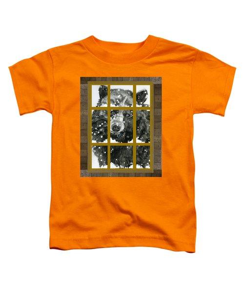 Black Bear, Outside My Window Toddler T-Shirt