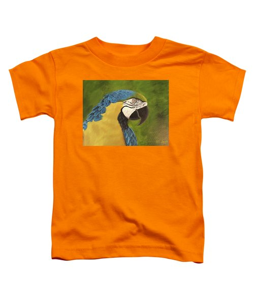 Blue And Gold Mccaw Toddler T-Shirt