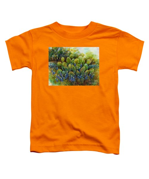 Bluebonnets And Cactus 2 Toddler T-Shirt