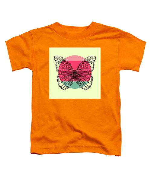 Butterfly And Sunset Toddler T-Shirt