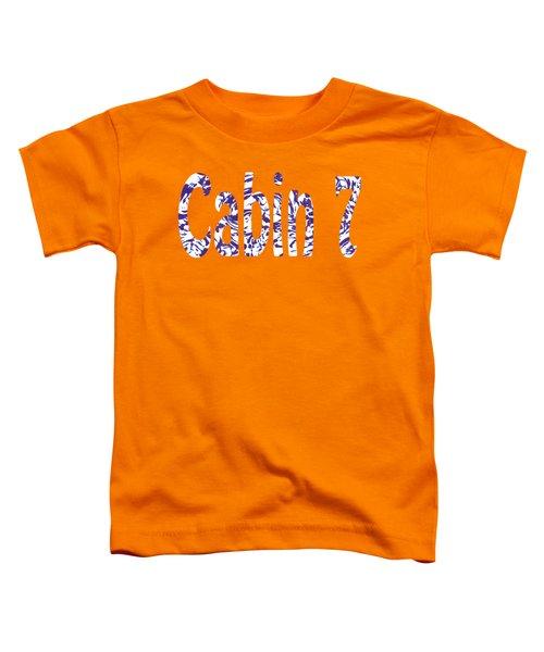 Cabin 7 Blue White Orange Toddler T-Shirt