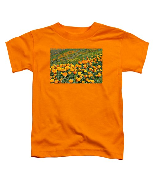 California Golden Poppies And Goldfields Toddler T-Shirt