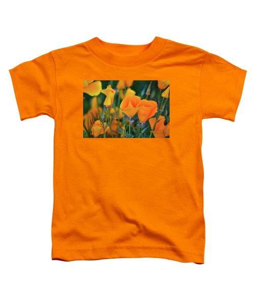 California Poppies Lake Elsinore Toddler T-Shirt