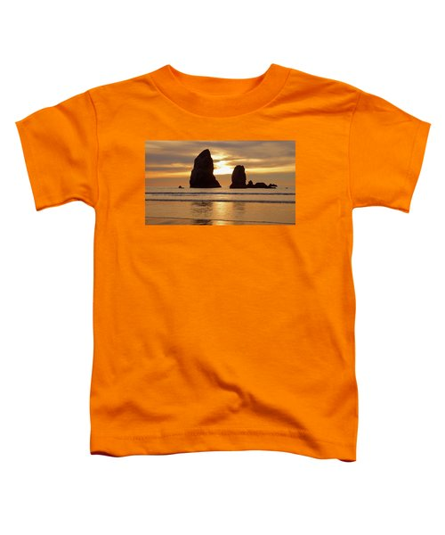 Cannon Beach November Sunset Toddler T-Shirt