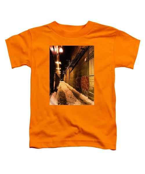 Chicago Alleyway At Night Toddler T-Shirt