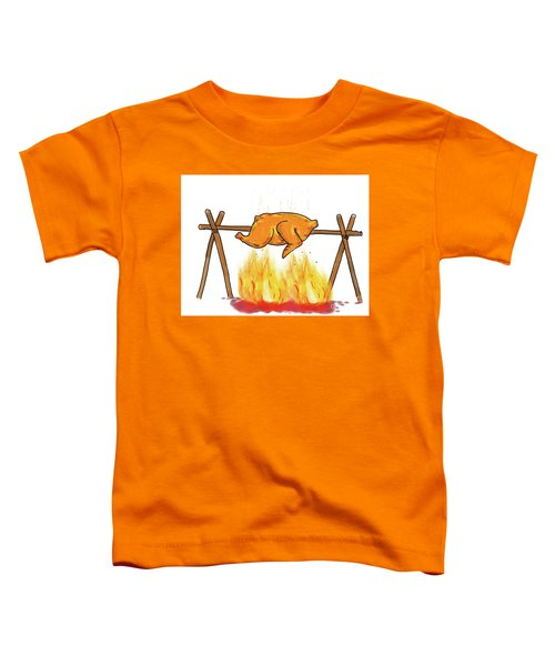 Chicken Roasting Barbecue Drawing  Toddler T-Shirt
