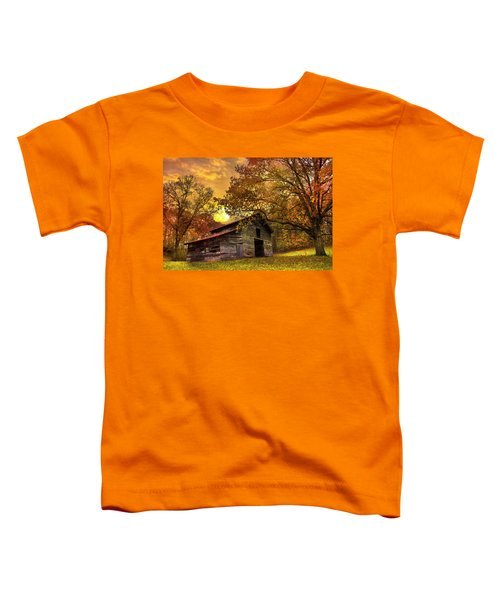 Toddler T-Shirt featuring the photograph Chill Of An Early Fall by Debra and Dave Vanderlaan