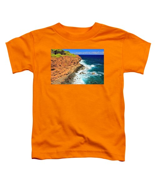 Cliff On Pacific Ocean Toddler T-Shirt