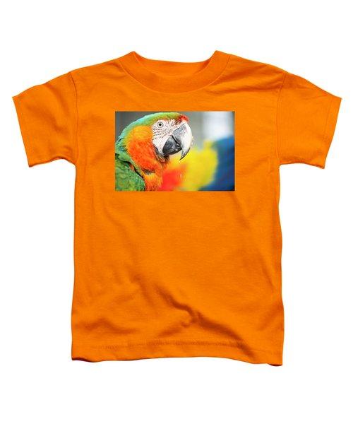 Close Up Of The Macaw Bird. Toddler T-Shirt