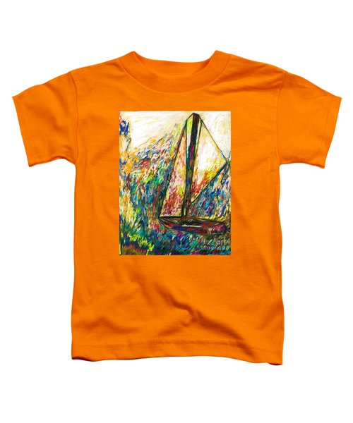 Colorful Day On The Water Toddler T-Shirt