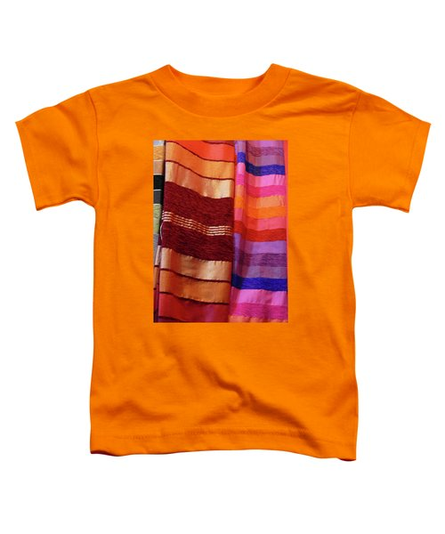 Colorful Fabrics In The Medina Market  Toddler T-Shirt