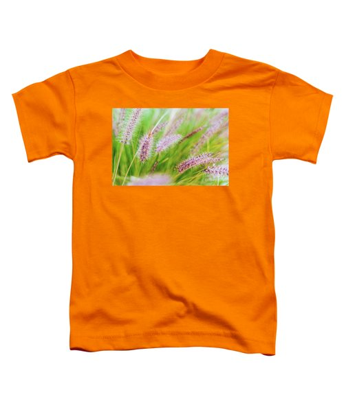 Colorful Flowers In Purple Spikes, Purple Fountain Grass, Close- Toddler T-Shirt