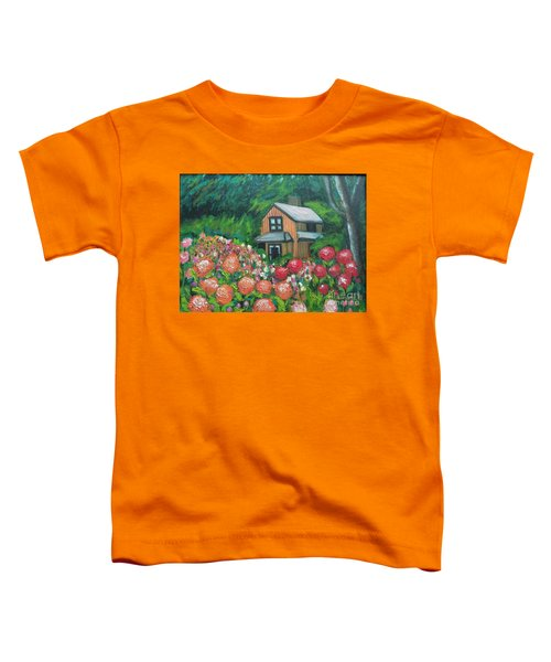 Dahlias In The Woods Toddler T-Shirt