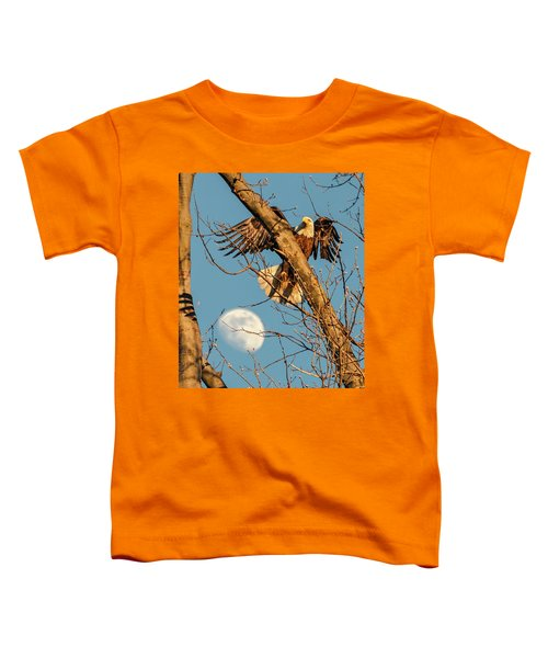Eagle And Moon  Toddler T-Shirt