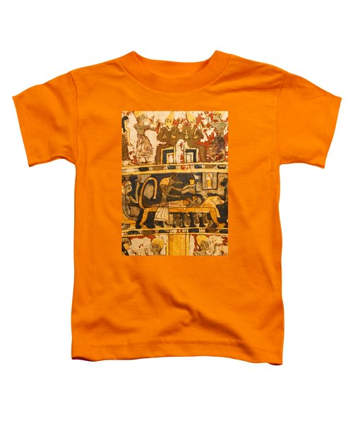 Egyptian Wall Art Toddler T-Shirt