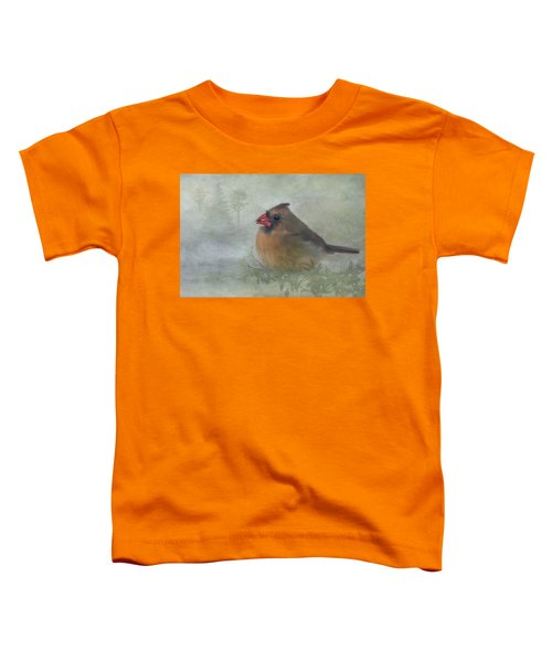 Female Cardinal With Seed Toddler T-Shirt