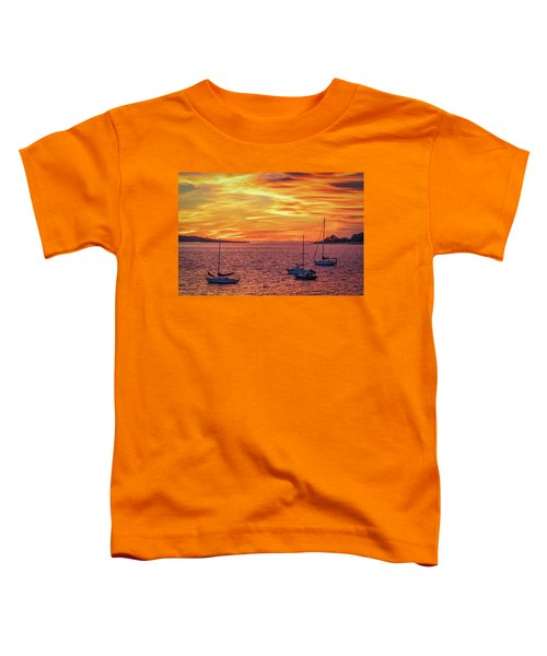 Fiery Sunrise Over Casco Bay Toddler T-Shirt