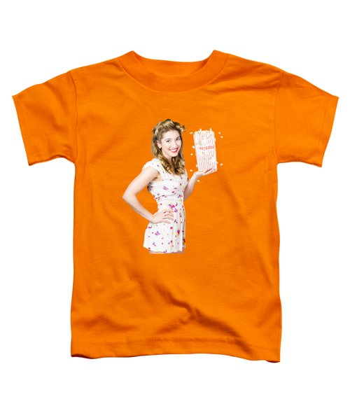 Film And Cinema Pin-up Lady Toddler T-Shirt