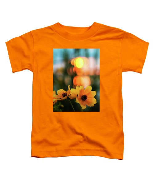 Flowery Bokeh Sunset Toddler T-Shirt