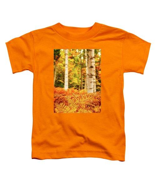 Golden Ferns In The Birch Glade Toddler T-Shirt
