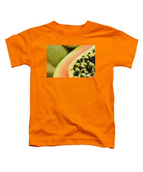 Group Of Fruits Papaya, Grape, Kiwi And Bananas Toddler T-Shirt