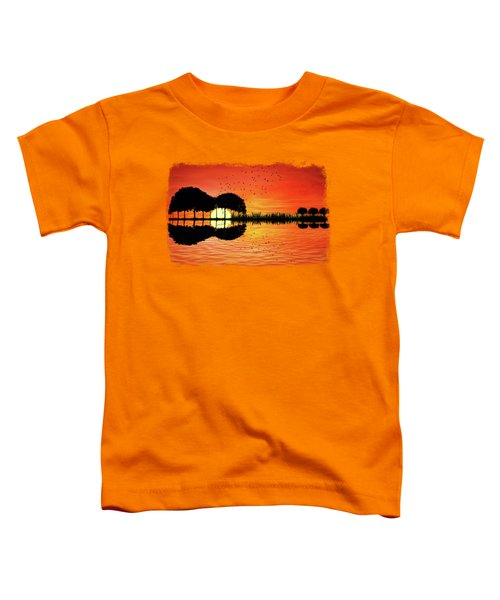 Guitar Island Sunset Toddler T-Shirt