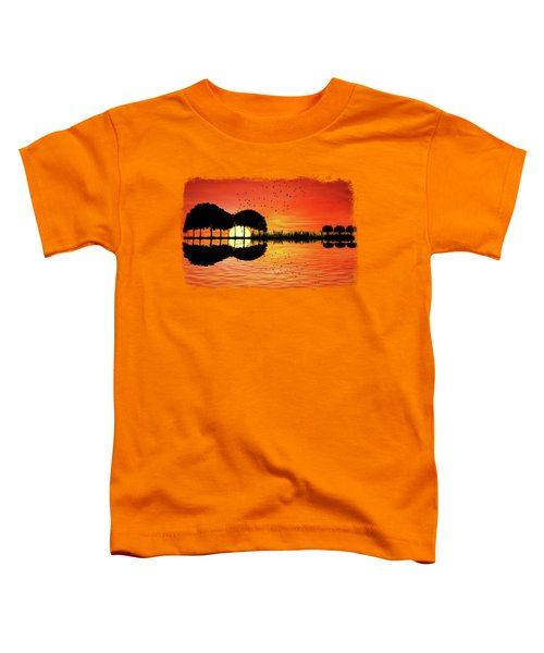 Guitar Island Sunset Toddler T-Shirt