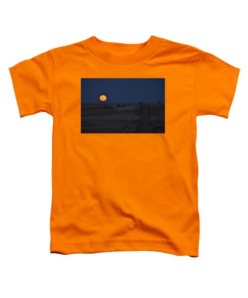 Toddler T-Shirt featuring the photograph Harvest Moon 2 by Carl Young