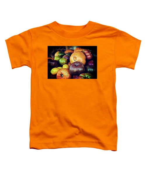 Heirloom Tomatoes At The Farmers Market Toddler T-Shirt