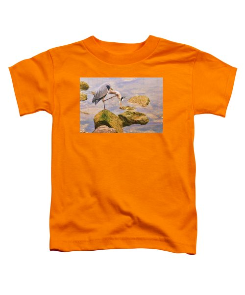 Itchy  Neck Heron Toddler T-Shirt